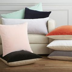 """leisure mint 16""""x36"""" pillow with feather-down insert 