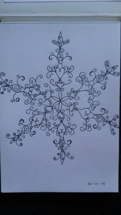 Snowflake mandala by Marieke Raterman. To purchase a print or a smartphone case with this print, visit Monnicken Werken at Facebook : https://m.facebook.com/profile.php?id=878872252171950