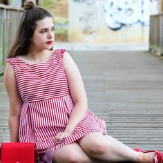 Has visto ya el nuevo #outfit #handmade de #PuntodeLu?? Un vestido de rayas estilo marinero ideal para el verano!!  Link directo en la bio!!