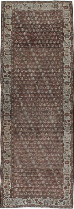 Antique Malayer Gallery Carpet, No. 23217 - 5ft. 2in. x 14ft. 6in.