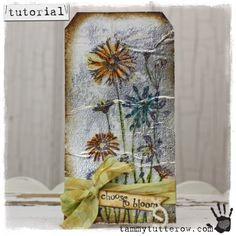 Tammy Tutterow Tutorial | Watercolor on Foil