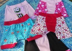 4 Pack of Custom made Girl or Boy Boxer Brief Underwear by PamperedPatooties on Etsy