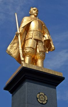 Statue of Oda Nobunaga which stands in front of Gifu Station #Samurai