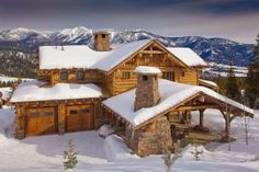 A Rustic Cabin Gateway to Big Sky's Unspoiled Beauty in the Winter