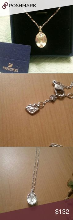Swarowski Crystal Necklace /ON SALE./ ON HOLD Brand new with tags. Its authentic Swarovski.  I took a picture of the swan, which is quite small. The pendant is about an inch long and a half inch wide. Very, beautiful necklace.  Chain is 18 inches long. This is a gorgeous necklace. Swarovski  Jewelry Necklaces