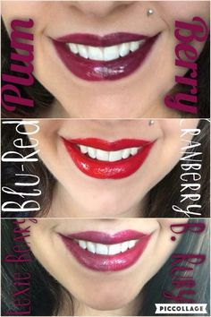 Side by side LipSense comparison Shop @laliplounge on Facebook