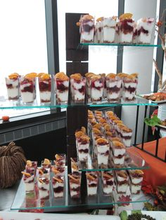 Cranberry Granola Parfait Tower at the Aerie Restaurant Thanksgiving buffet.