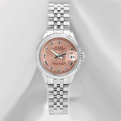 Used Rolex Ladies' 1990's Datejust Watch In Salmon - Beyond the Rack