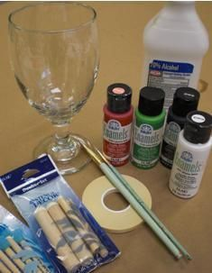 Painting Glassware How to Prepare and Paint Glass for DIY Craft Projects Wine Glass Crafts, Wine Bottle Crafts, Jar Crafts, Bottle Art, Glass Bottles, Painted Bottles, Painted Glass Blocks, Crafts To Make, Just In Case