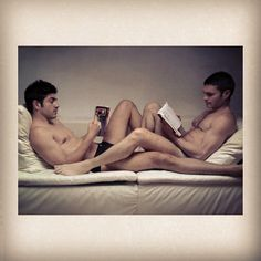 Gay Kisses And Love with Books