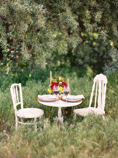 Whimsical backyard honeymoon dinner?