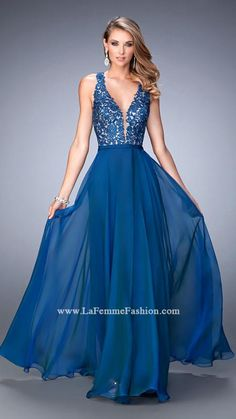 US$149.99 Wholesale 2016 A-line Lace Top Long Prom Dress /Evening Dress/ formal Dress La Femme 22615 from - US.homecomingnightgirl.com