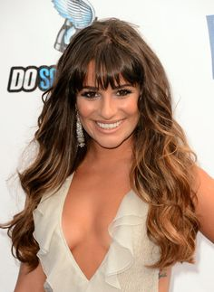 Lea Michele Ombre Hair hair-and-beauty Lea Michele, My Hairstyle, Fringe Hairstyles, Hairstyles With Bangs, Hairstyle Ideas, Prom Hairstyles, Long Haircuts, Layered Hairstyles, Celebrity Hairstyles