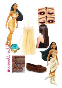 Pocahontas modern outfits. by sweeettreat95 on Polyvore featuring polyvore fashion style Star Mela Minnetonka K. Amato Disney modern clothing