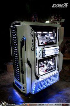 Pc Gaming Setup, Gaming Pcs, Pc Setup, Computer Build, Computer Case, Gaming Computer, Computer Technology, Technology Gadgets, Tech Gadgets