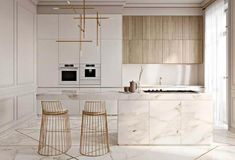 55 Modern Kitchen Interior Design That You Have to Try, a lovely kitchen is dreaming and needed for every woman. A growth of interior design treats us to give the best for our dwelling include a kitchen. Modern Kitchen Interiors, Elegant Kitchens, Modern Kitchen Design, Modern Interior Design, Interior Design Kitchen, Modern Kitchens, Luxury Kitchens, Beautiful Kitchens, Contemporary Interior