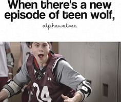 stiles stilinski, teen wold, dylan o'brien, teen wolf season waiting for season can't wait for Teen Wolf Coach, Teen Wolf Mtv, Teen Wolf Funny, Teen Wolf Memes, Teen Wolf Stiles, Best Tv Shows, Best Shows Ever, Favorite Tv Shows, Wolf Stuff