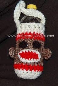 Posh Pooch Designs Dog Clothes: Sock Monkey Water Bottle Cozy Crochet Pattern