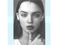 Styling by yessicachristina showing Delight Five Septum Ring Gold and Bubble Ring Blue Small Gold #jewellery #Jewelry #bangles #amulet #dogtag #medallion #choker #charms #Pendant #Earring #EarringBackPeace #EarJacket #EarSticks #Necklace #Earcuff #Bracelet #Minimal #minimalistic #ContemporaryJewellery #zirkonia #Gemstone #JewelleryStone #JewelleryDesign #CreativeJewellery #OxidizedJewellery #gold #silver #rosegold #hoops #armcuff #jewls #jewelleryInspiration #JewelleryInspo #accesories…