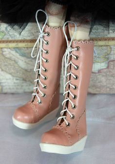 1/4 bjd msd boy or girl doll pink color long boots shoes dollfie luts AI DOD DZ