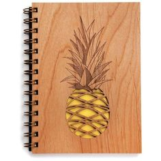 Cardtorial Pineapple Yellow By ($24) ❤ liked on Polyvore featuring home, home decor, stationery, accessories and books
