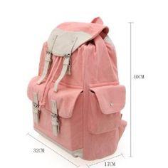 Korean Popular Casual Canvas Schoolbag/ Backpack (Model: B010277)