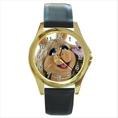 Miss piggy the muppets gold-tone unisex wrist watch. http://stores.shop.ebay.co.uk/giftpick