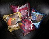 Crazy tie pillows