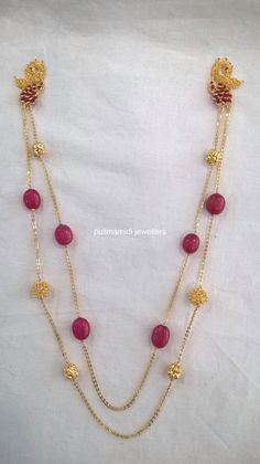 Fecund adds Ruby Jewelry, India Jewelry, Beaded Jewelry, Jewelery, Gold Jewelry Simple, Trendy Jewelry, Gold Pendent, Bollywood Jewelry, Bride Accessories