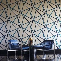 Sumi wallcovering by Harlequin for Zoffany at Grizzel & Mann, ADAC Atlanta #geometric #abstract #color
