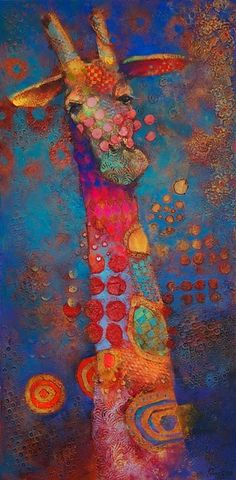 "Girafe - ""Heads Up"" by Angie Rees Art Amour, Art Fantaisiste, Giraffe Art, Giraffe Painting, Art Et Illustration, Inspiration Art, Arte Popular, Art Design, Whimsical Art"