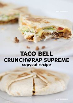 Taco Bell Crunchwrap Supreme copycat recipe.  I mide these tonight with Morningstar Crumbles, and they were amazing.