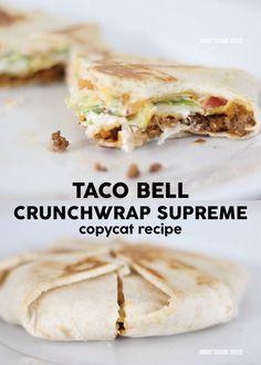 Taco Bell Crunchwrap Supreme - DIY copycat recipe to make at home!