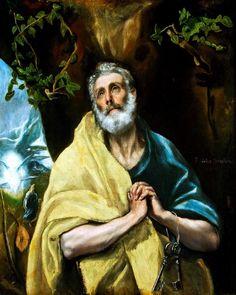 """""""Las lágrimas de San Pedro"""", obra de El Greco."""