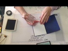 Get more uses out of your stamps with the washi tape technique by Jessie Holton, Stampin' Up! - YouTube