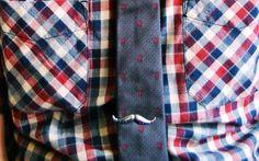The Moustache Tie Clip