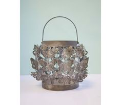 Home Decor Accessories - Shabby Cottage Butterfly Lantern   Plaid Parasol