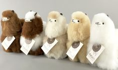 Which color is your favorite alpaca? Is it one of these three? Alpaca Stuffed Animal, Stuffed Animals, Llama Alpaca, Alpaca Wool, Alpaca Gifts, Alpacas, Animals Of The World, Needle Felting, Your Favorite
