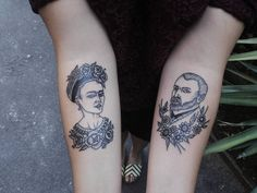 Frida Kahlo,Vincent Van Gogh tattoo  See this Instagram photo by @thundermmonkey