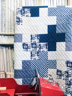 """We at My Girlfriend's Quilt Shoppe LOVE """"no-brainer"""" quilt. Especially one like this that turns out looking so complicated! This Criss Cross Quilt Downloadable Pattern could not be simpler! We have included clear diagrams as well as a coloring sheet to help you plan your fabrics!"""