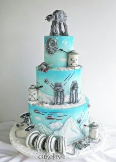 Star Wars Hoth cake by CakeLava - For all your cake decorating supplies, please visit craftcompany.co.uk