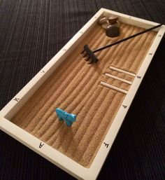 White Desktop Mini DRESSAGE ZEN GARDEN Lettered by HorseSportsArt... Yep I definitely NEED this :D