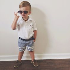 Most Popular Baby Boy Summer Outfits Toddler Boy Fashion, Little Boy Fashion, Toddler Boy Outfits, Kids Fashion, Toddler Boy Style, Baby Style, Toddler Boys, Boys Summer Outfits, Little Boy Outfits