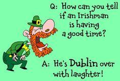 Dublin pun ~ Irish jokes for St. St Patricks Day Jokes, St Patricks Day Pictures, St Patricks Day Cards, Saint Patricks, Dublin, Irish Jokes, Irish Humor, Summer Jokes, Daily Jokes