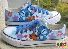 Lilo and Stitch HandPainted shoes I'm in love with them and all they're little things