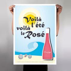 """Wine poster """"L'envie / Rosé"""" by L_st - 2011"""