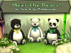 Meet the Bears | akisima sims blog