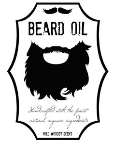 Printable beard photo booth prop. Create DIY props with