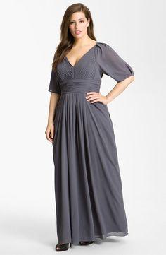 41fdad95de JS Collections Pleated Stretch Crepe Dress (Plus)