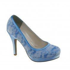BOBBIE-382 Women High Heel Pumps - Blue